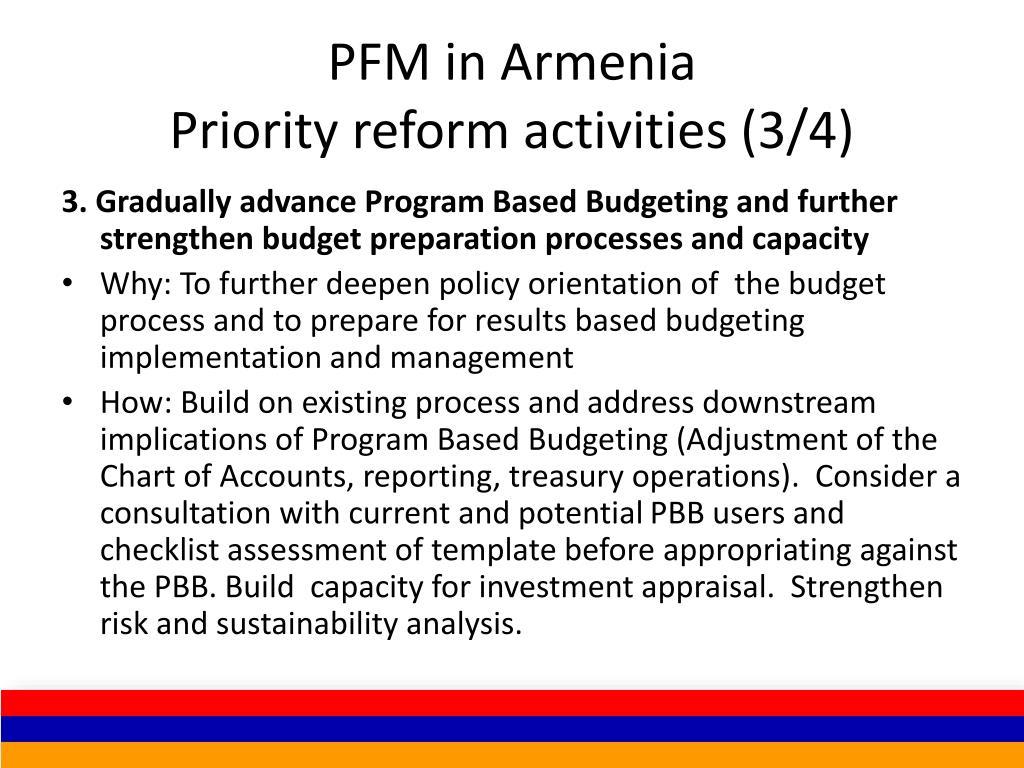 PFM in Armenia
