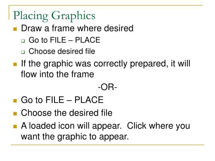 Placing graphics