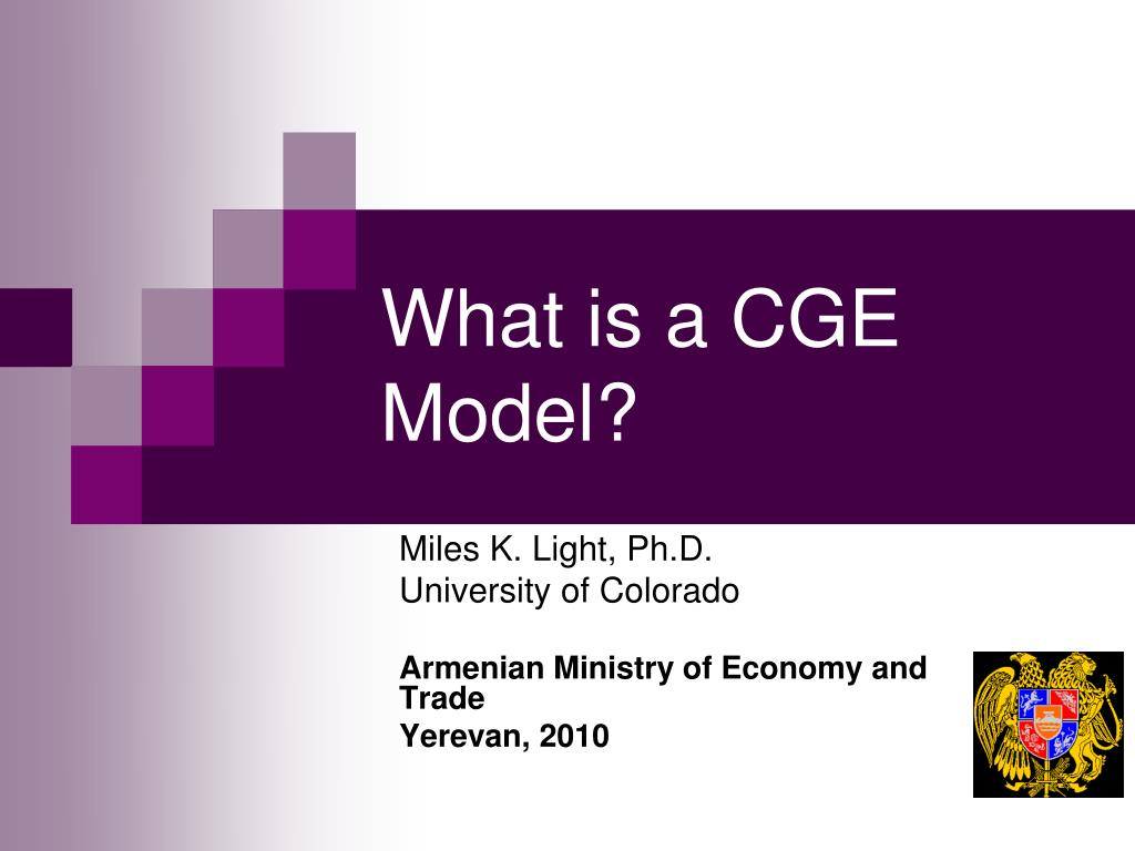 what is a cge model l.
