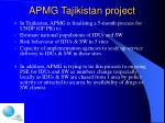 apmg tajikistan project