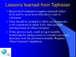 lessons learned from tajikistan14