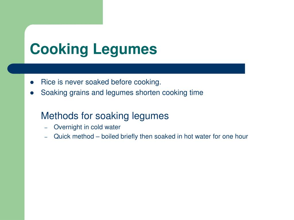 Cooking Legumes