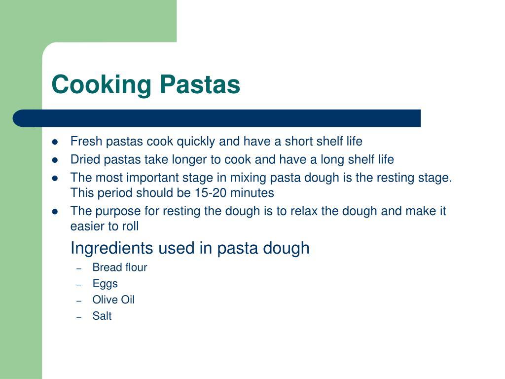 Cooking Pastas