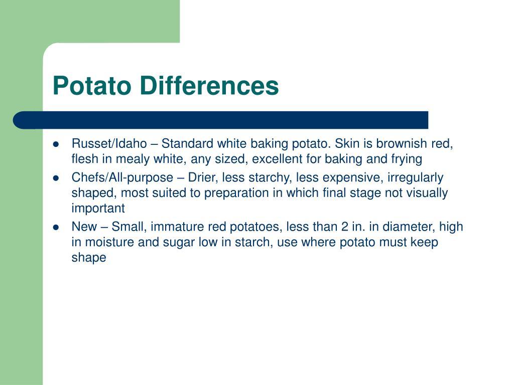 Potato Differences