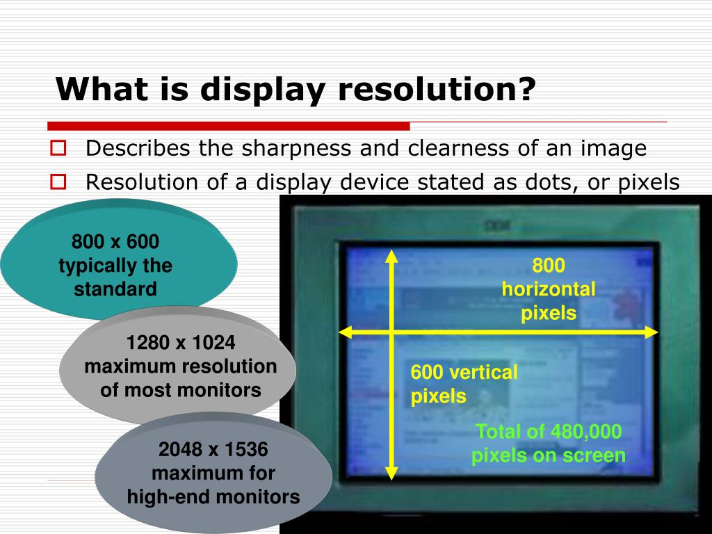 What is display resolution?