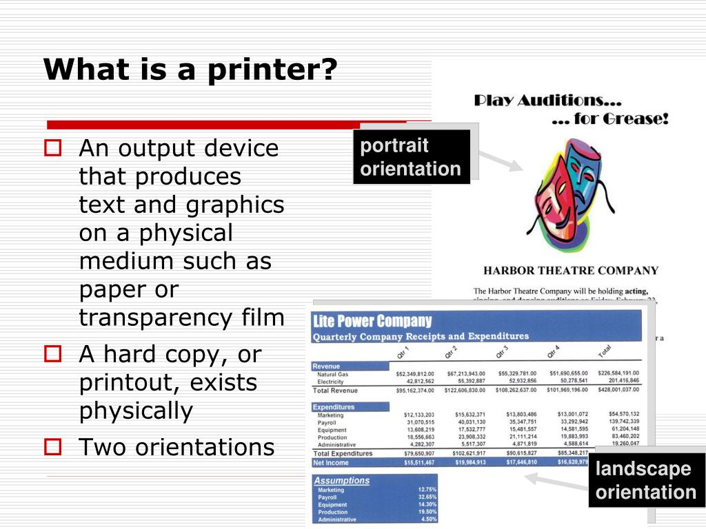 What is a printer?