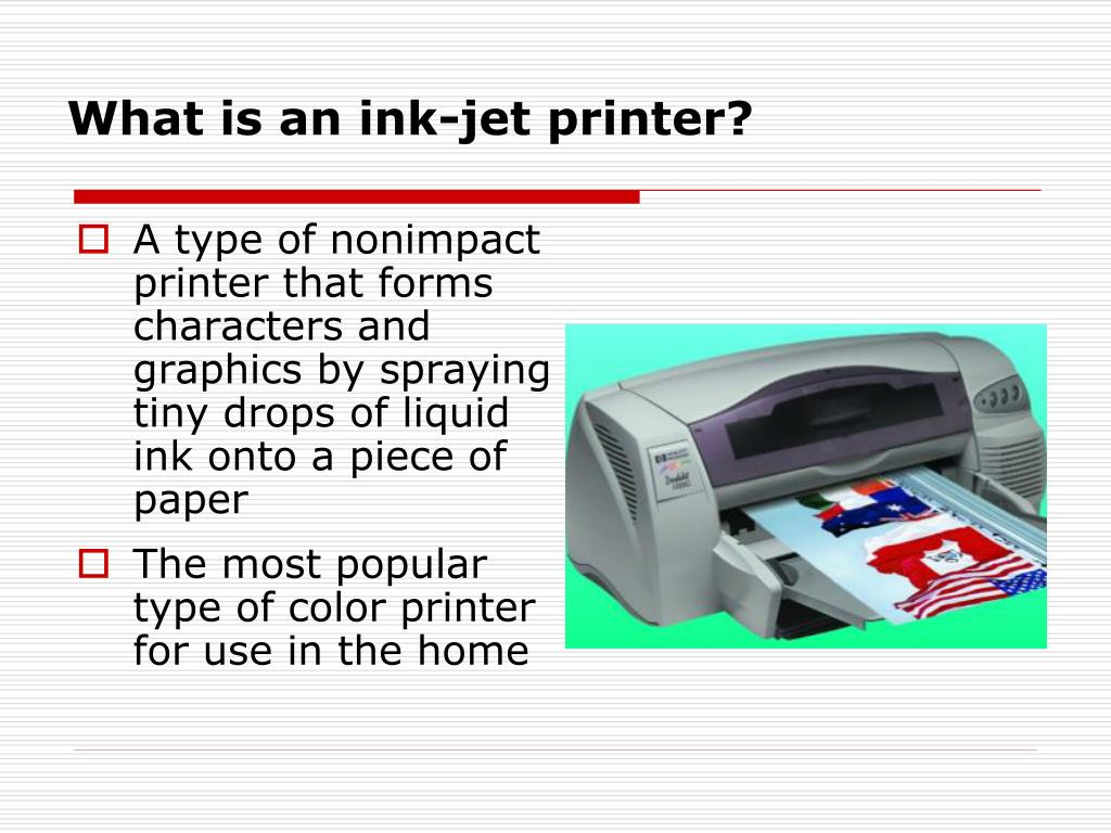What is an ink-jet printer?