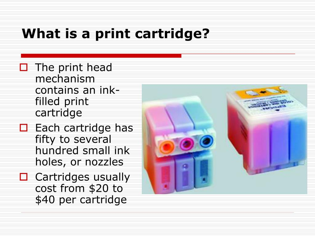 What is a print cartridge?