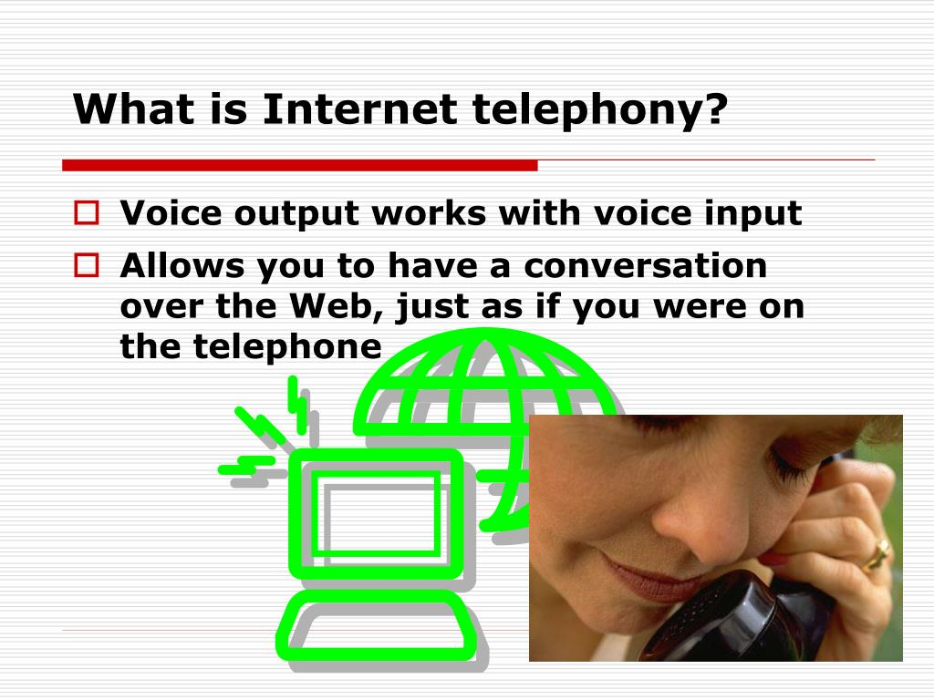 What is Internet telephony?