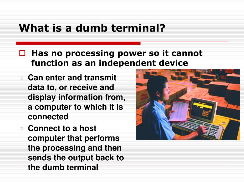 What is a dumb terminal?