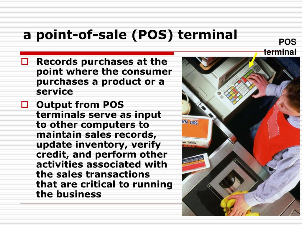 a point-of-sale (POS) terminal