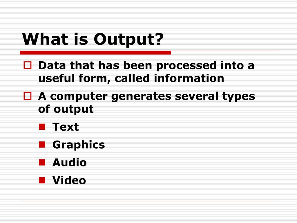 what is output l.