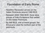 foundation of early rome