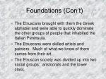 foundations con t