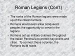 roman legions con t