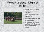 roman legions might of rome