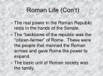 roman life con t
