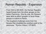 roman republic expansion