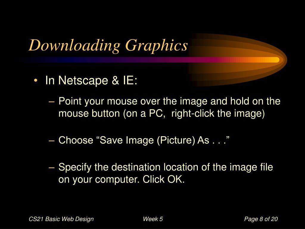 Downloading Graphics