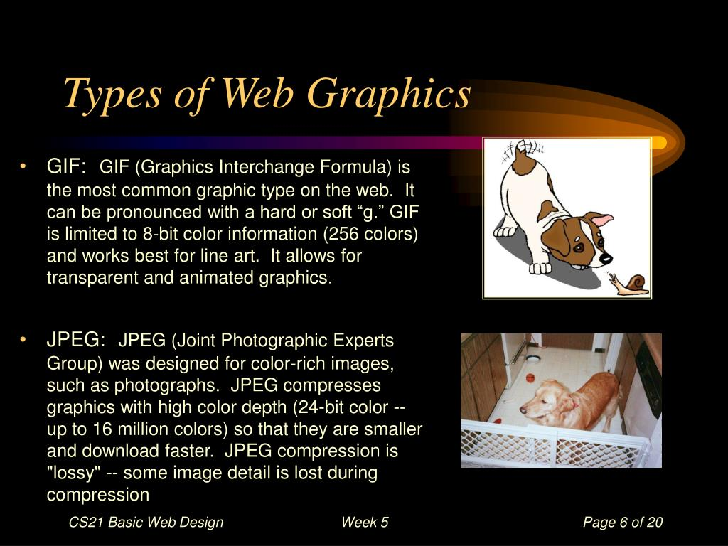 Types of Web Graphics