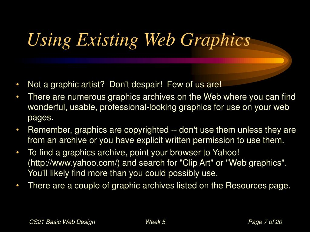 Using Existing Web Graphics