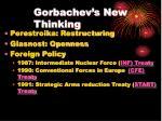 gorbachev s new thinking