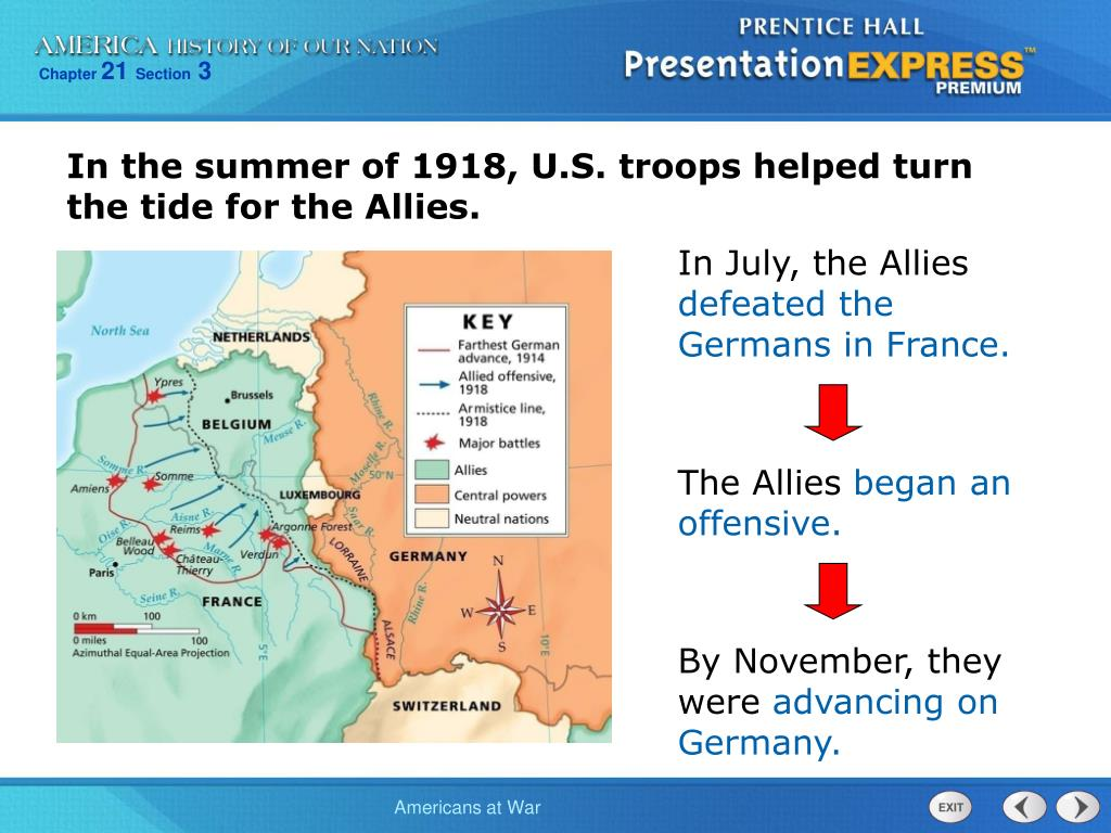 In the summer of 1918, U.S. troops helped turn the tide for the Allies.