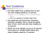 text guidelines68