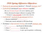 1918 spring offensive objectives