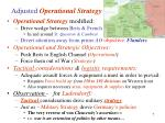 adjusted operational strategy