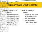 making visuals effective cont d