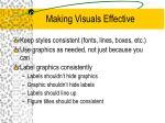 making visuals effective