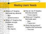 meeting users needs