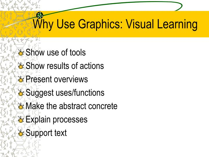 Why use graphics visual learning