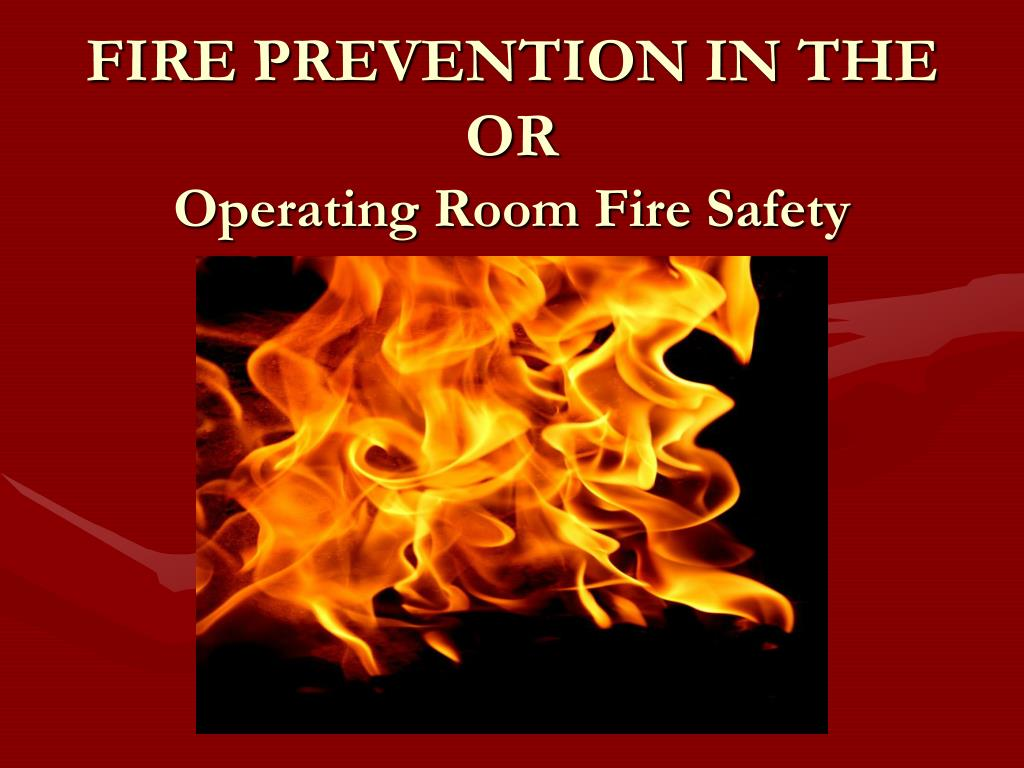 operating room fire safety l.