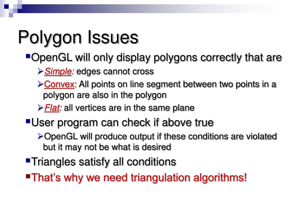 Polygon Issues