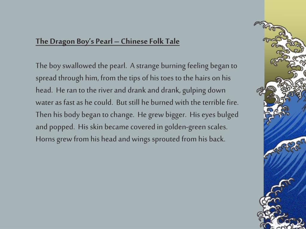 The Dragon Boy's Pearl – Chinese Folk Tale