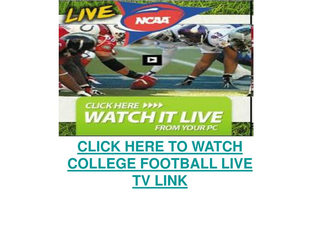 click here to watch college football live tv link l.