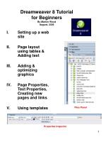 dreamweaver 8 tutorial for beginners by marion wood august 2006