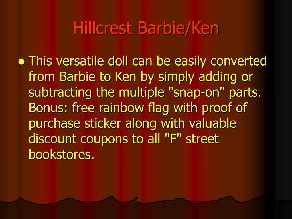 Hillcrest Barbie/Ken