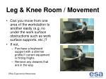 leg knee room movement46