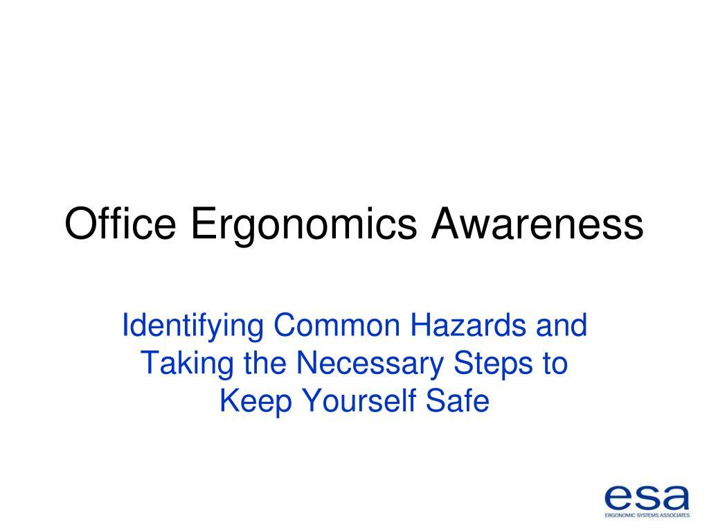 office ergonomics awareness l.