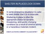 shelter in place lock down