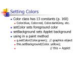 setting colors