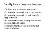 facility use lessons learned