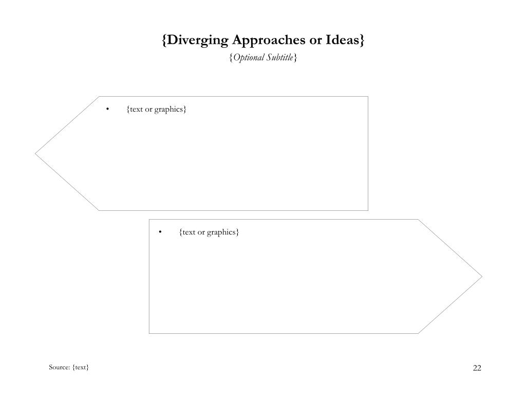 {Diverging Approaches or Ideas}