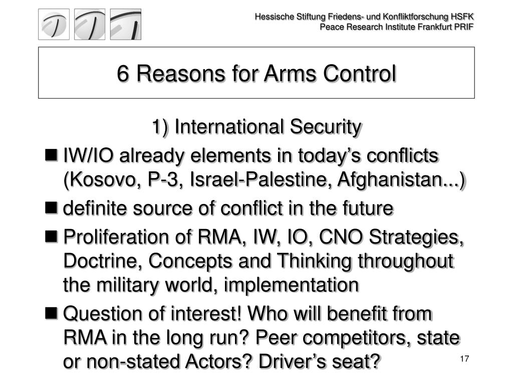 6 Reasons for Arms Control