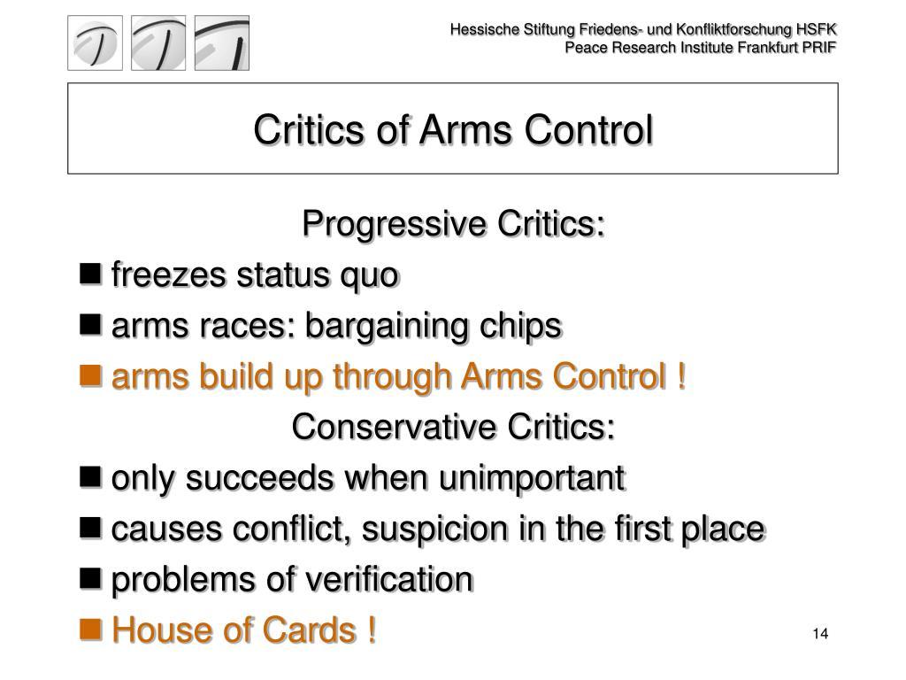Critics of Arms Control