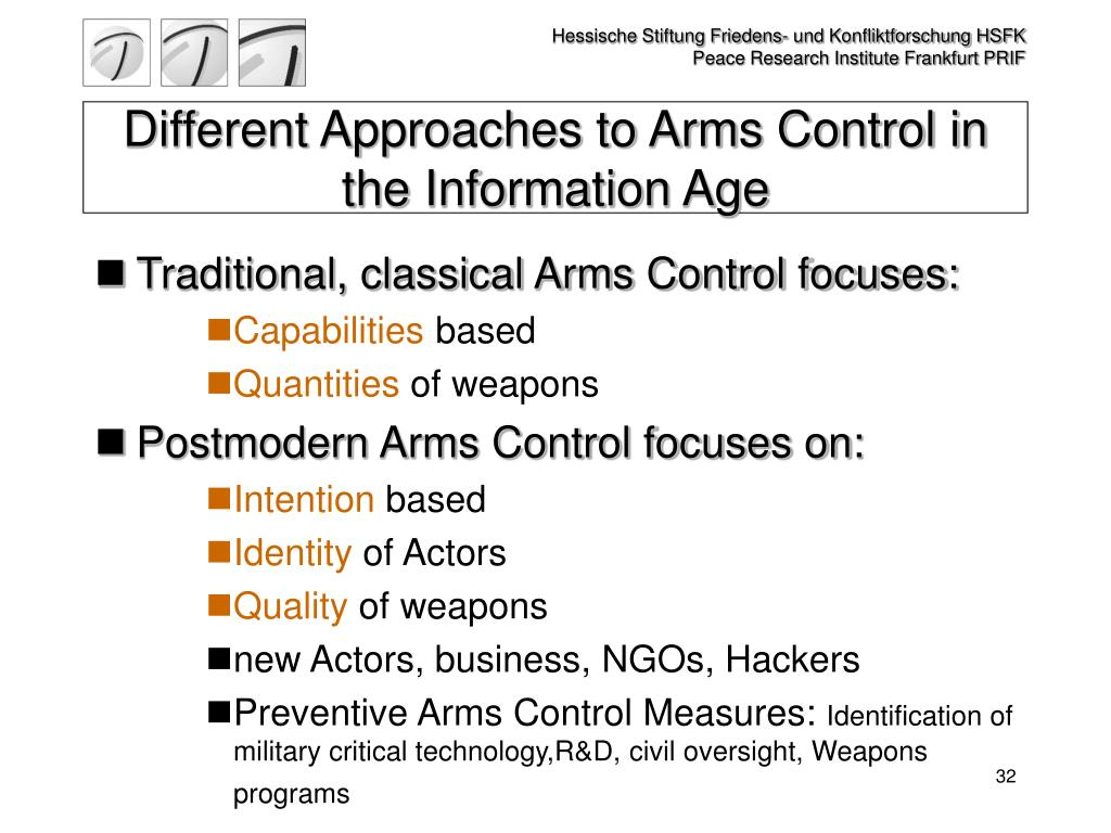 Different Approaches to Arms Control in the Information Age