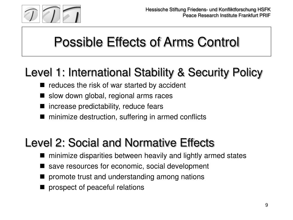 Possible Effects of Arms Control